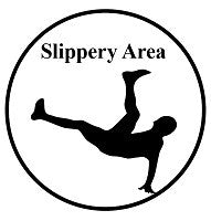 Mighty Line Slippery Area Ahead Floor Sign