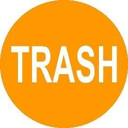 Mighty Line Trash Floor Sign
