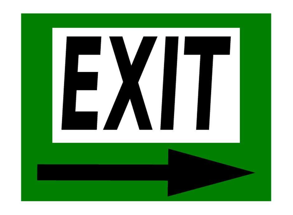 Mighty Line Exit Sign with Green Right Arrow