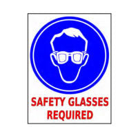 Mighty Line Safety Glasses Required Floor Sign