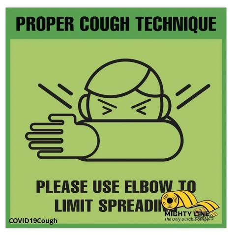 Mighty Line Proper Cough Technique Floor Sign