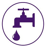 Mighty Line Drinking Water Station Floor Sign
