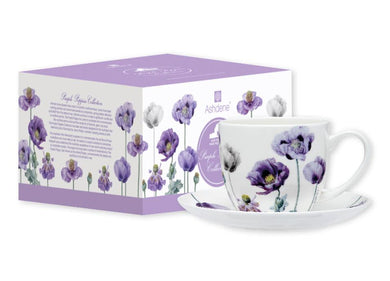 Purple Poppies AWM Cup & Saucer