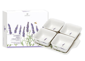 Lavender Fields 5 Piece Bowl & Tray Set