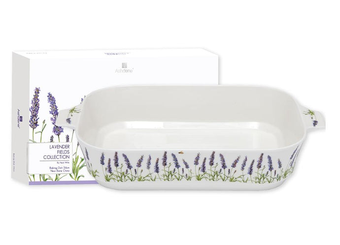 Lavender Fields Large Rectangle Baking Dish