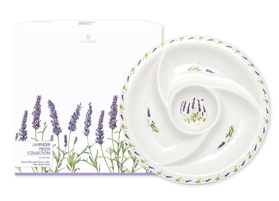 Lavender Fields Round Sectioned Platter