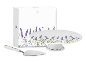 Lavender Fields Footed Cake Stand & Server Set