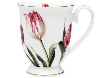 Floral Symphony Tulip Footed Mug
