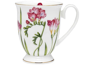 Floral Symphony Freesia Footed Mug