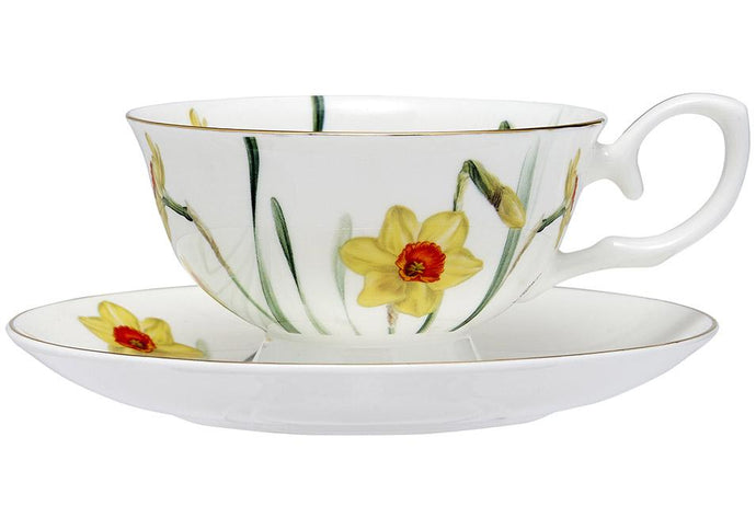 Floral Symphony Daffodil Cup & Saucer