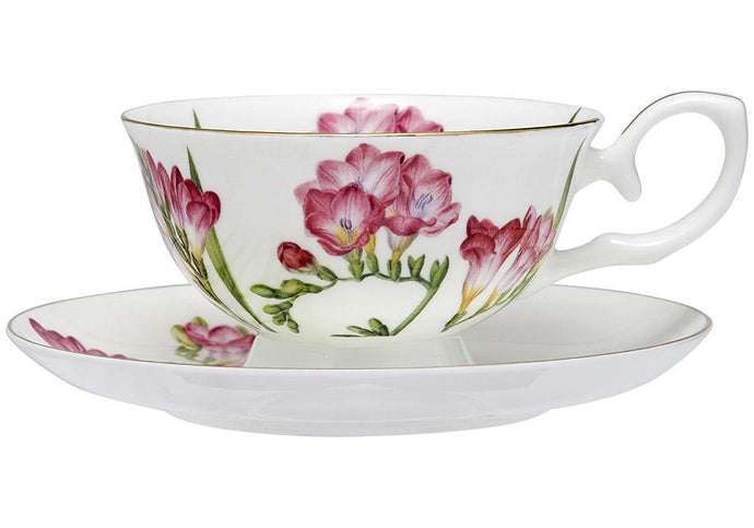 Floral Symphony Freesia Cup & Saucer