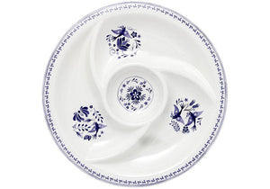 Blue Mazarine Round Sectioned Platter