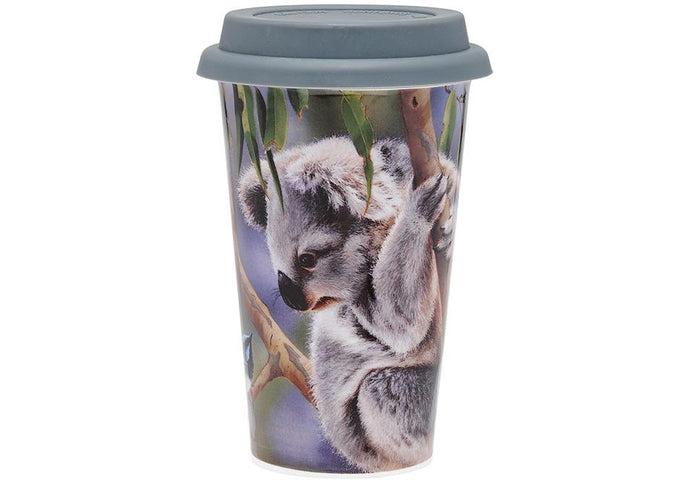 Fauna of Aus Koala & Wren Travel Mug