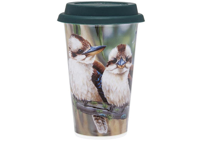 Fauna of Aus Kookaburras Travel Mug