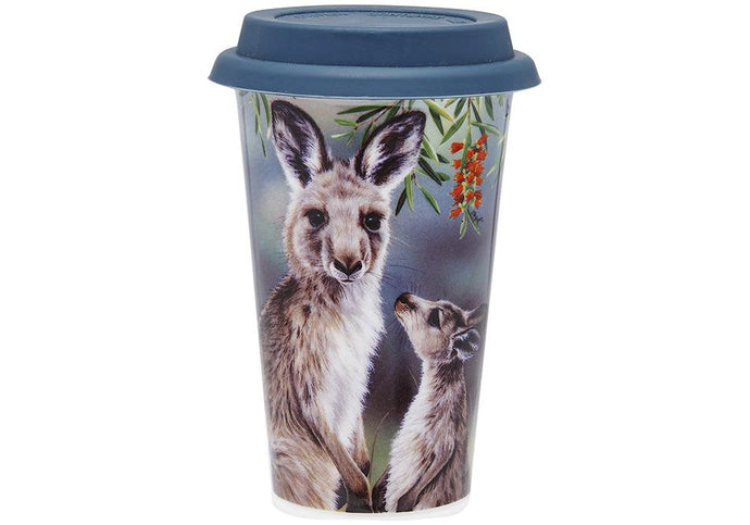 Fauna of Aus Kangaroo & Joey Travel Mug