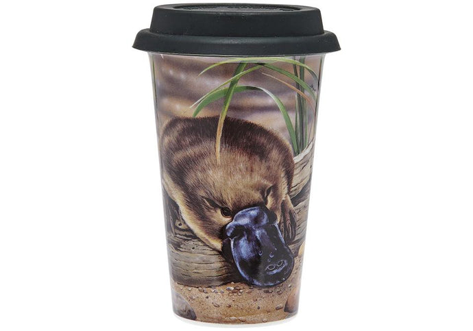 Fauna of Aus Platypus & Turtle Travel Mug