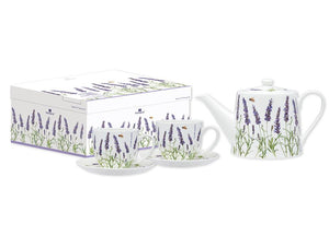 Lavender Fields Teapot & 2 Teacup Set