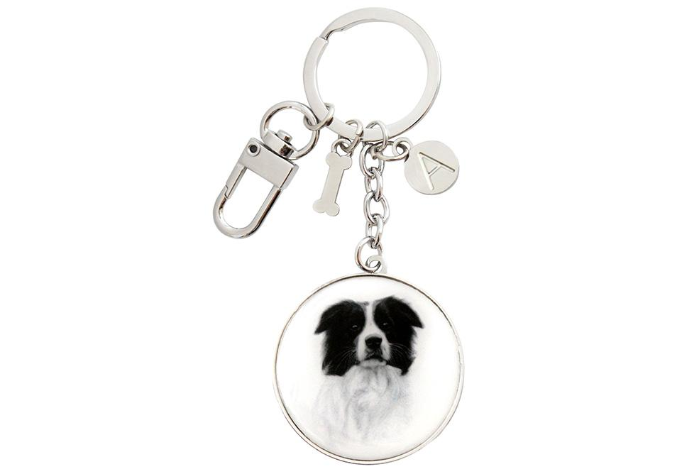 Delightful Dogs Border Collie Keyring