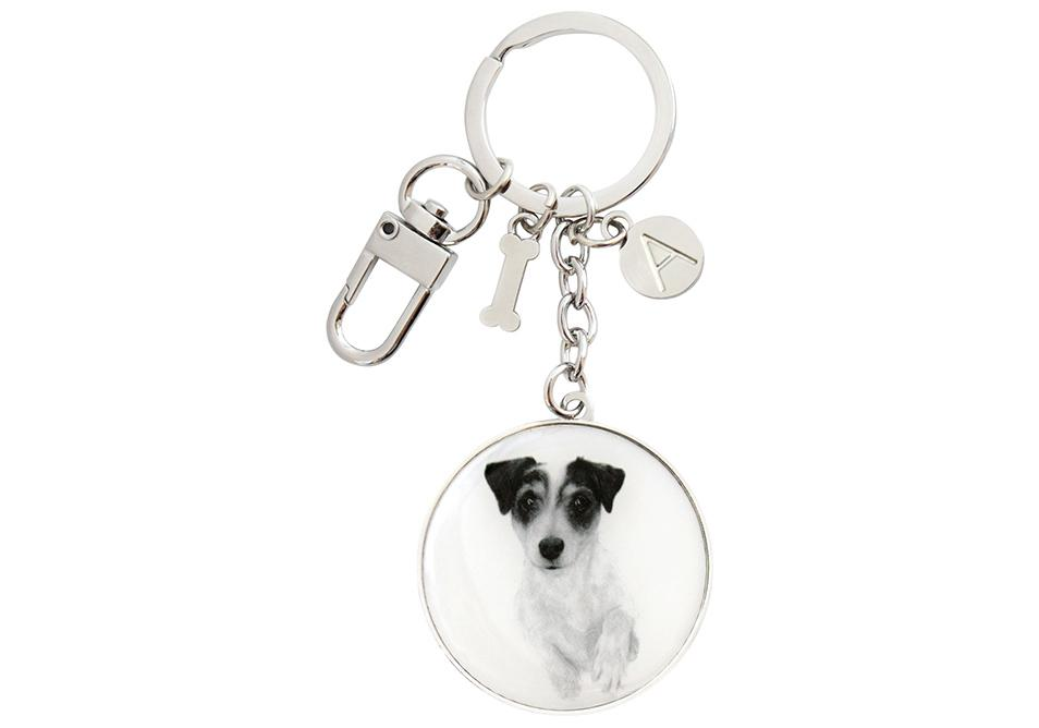 Delightful Dogs Jack Russell Keyring