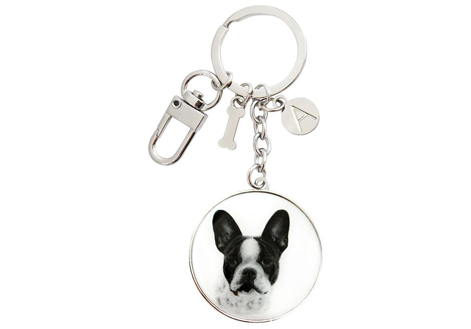 Delightful Dogs French Bulldog Keyring