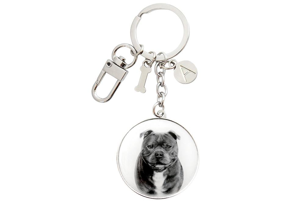 Delightful Dogs Staffy Terrier Keyring
