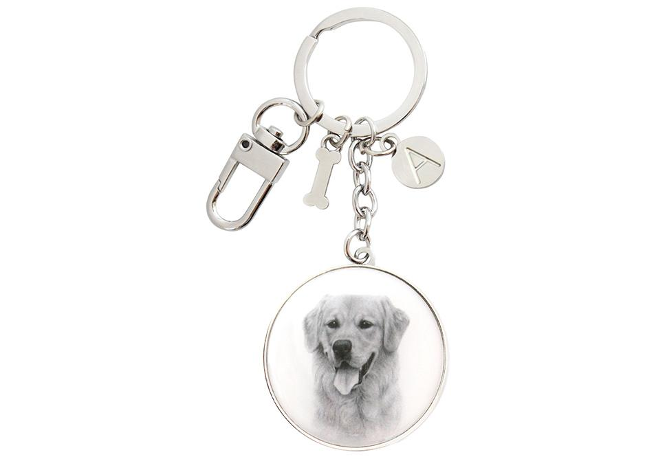 Delightful Dogs Golden Retriever Keyring