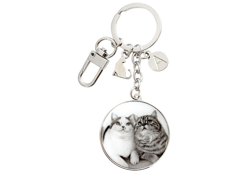 Feline Friends Fixated Friends Keyring