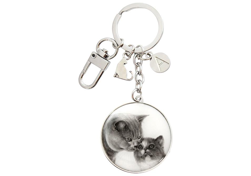 Feline Friends Mothers Love Keyring