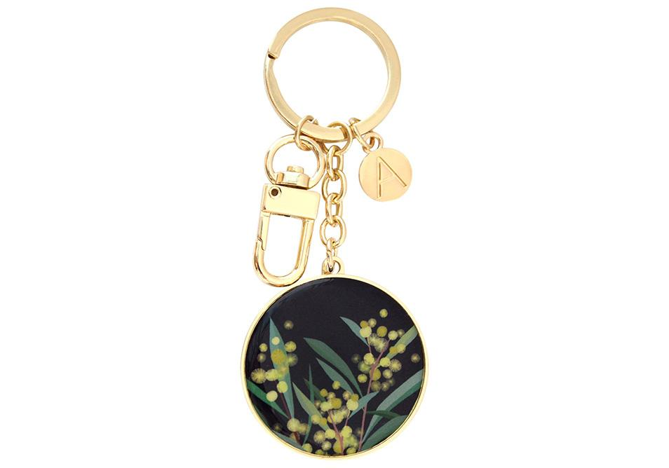 Native Grace Wattle Keyring