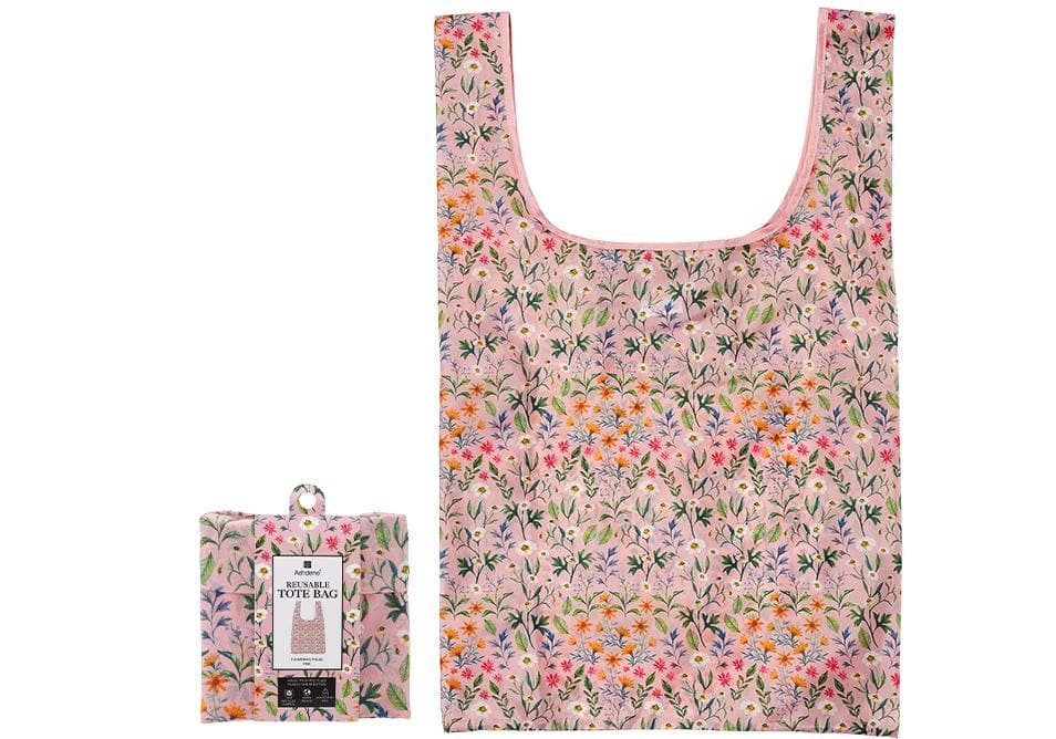 Flowering Fields Pink Shopping Bag