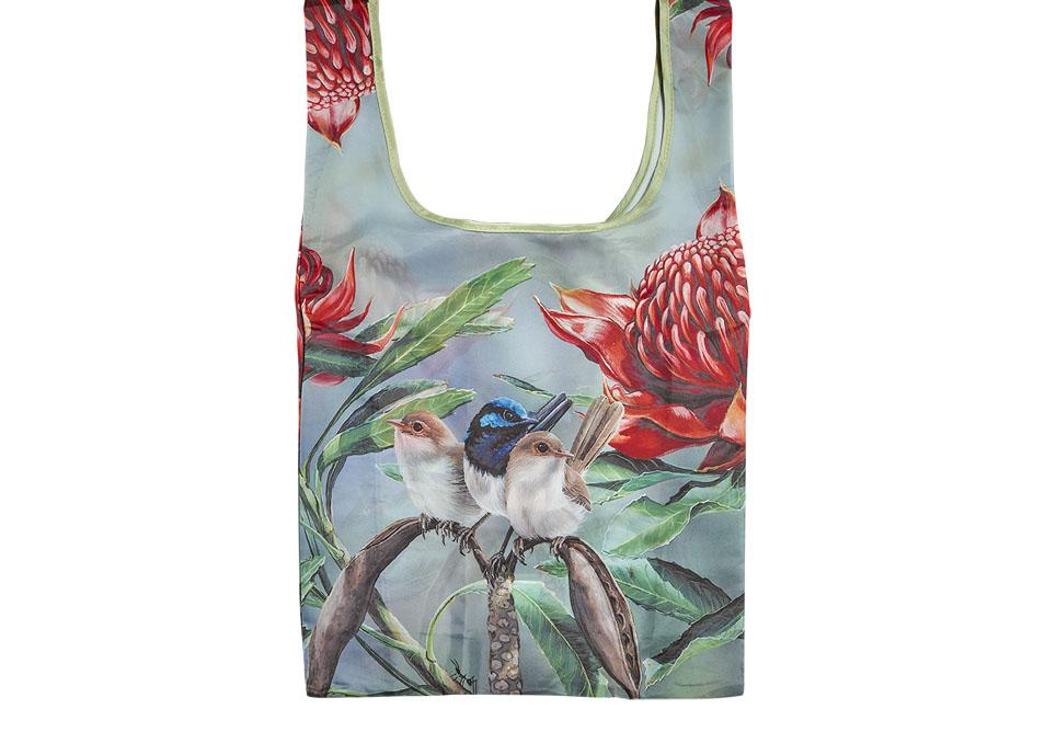 Aus Bird & Flora Blue Wren Shopping Bag