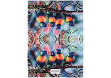 Load image into Gallery viewer, Aus Bird & Flora Lorikeet & B/brush Kitchen Towel