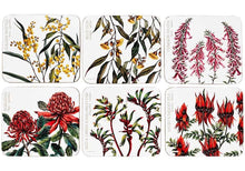 Load image into Gallery viewer, Aus Floral Emblems 6pk Coaster