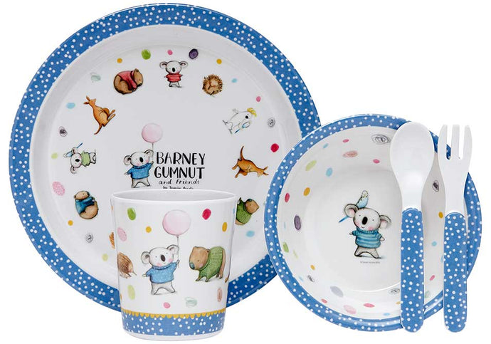 Barney Gumnut & Friends 5 Piece Kids Dinner Set