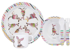 Cooee 5 Piece Kangaroo Kids Dinner Set