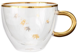 Honey Bee Glass Cup