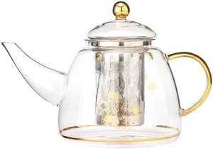 Honey Bee Glass Teapot