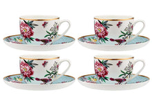 Load image into Gallery viewer, Jardin Peony Cup & Saucer Set Of 4
