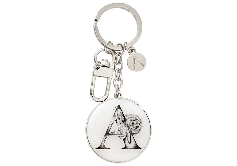 Letters of Aus Keyring