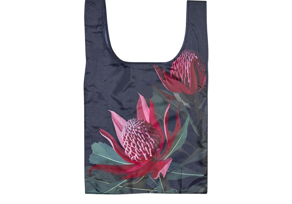 Native Grace Waratah Shopping Bag
