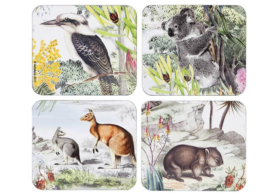 Wildlife Australia 4pk Coaster