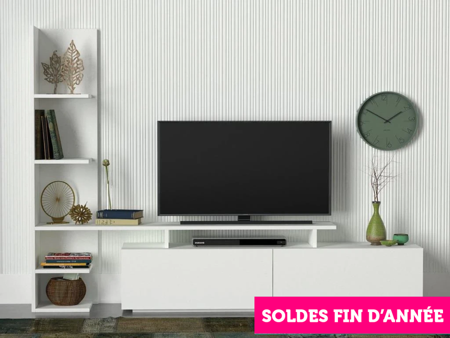 Meuble TV HOME - Blanc