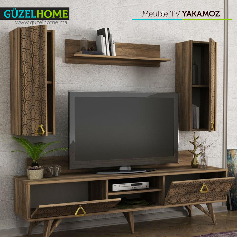 Meuble TV YAKAMOZ - Exclusif Noyer