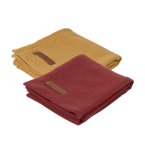 Lot de 2 langes Pur red (70 x 70 cm)