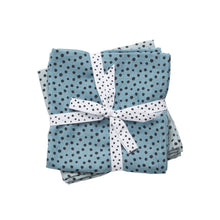 Charger l'image dans la galerie, Lot de 2 langes Happy dots bleus (70 x 70 cm)