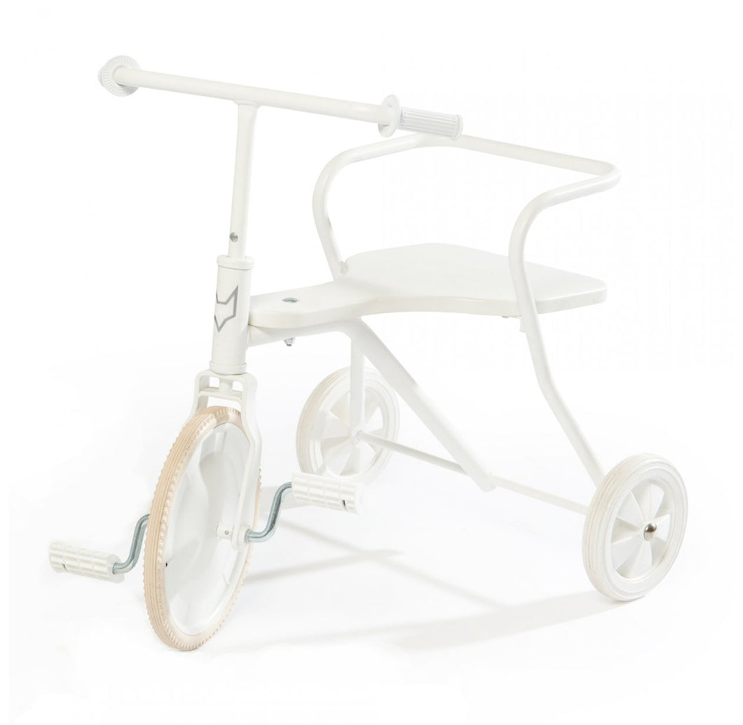 Tricycle en métal Blanc