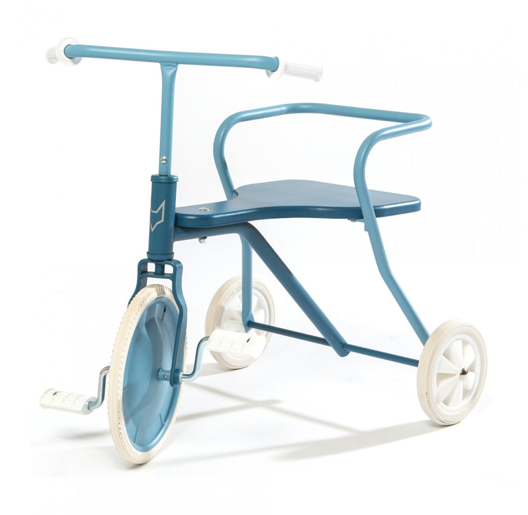 Tricycle en métal Bleu