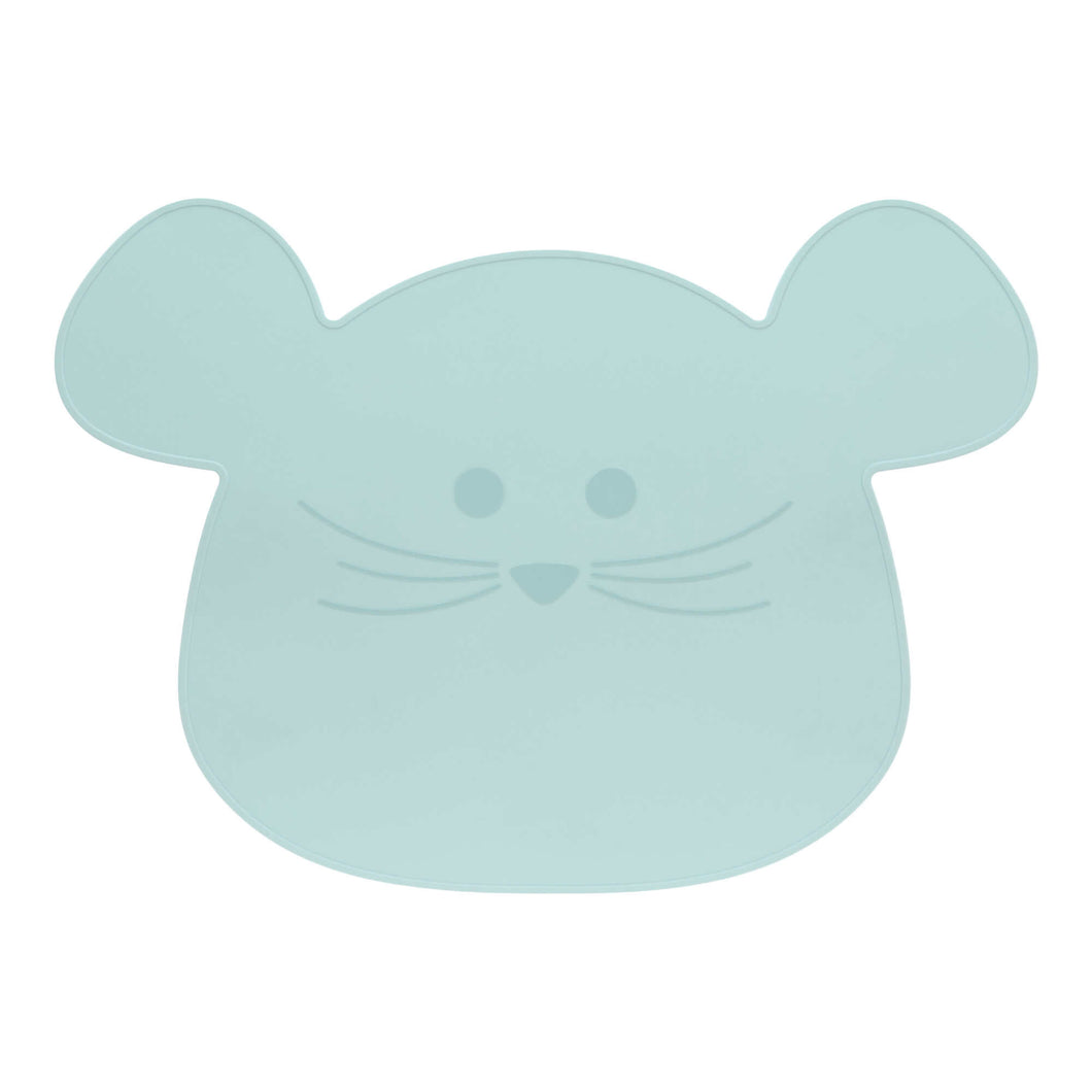 Set de table en silicone Little Chums Souris Bleu