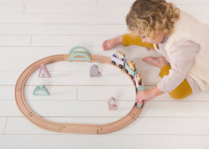Circuit train en bois Rose