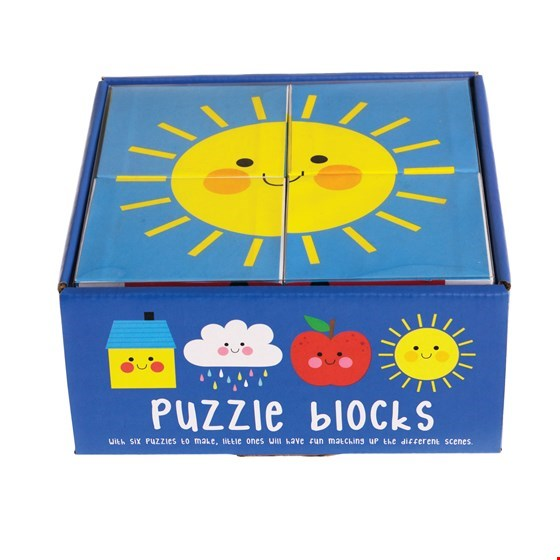 Puzzle cubes Happy